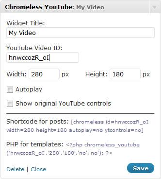Как добавить видео из YouTube в тему блога | Chromeless YouTube