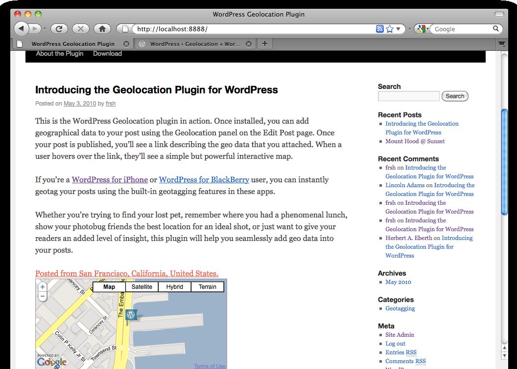 Как показать в посте, где вы находитесь | Geolocation | n-wp.ru