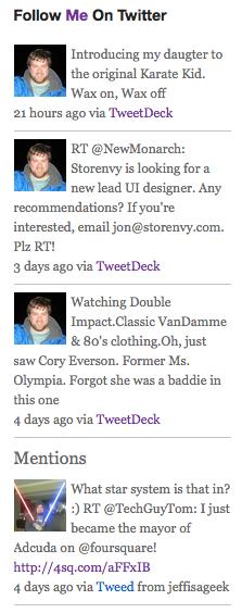 Как вывести последние сообщения из Твиттера | Tweet Stream | n-wp.ru