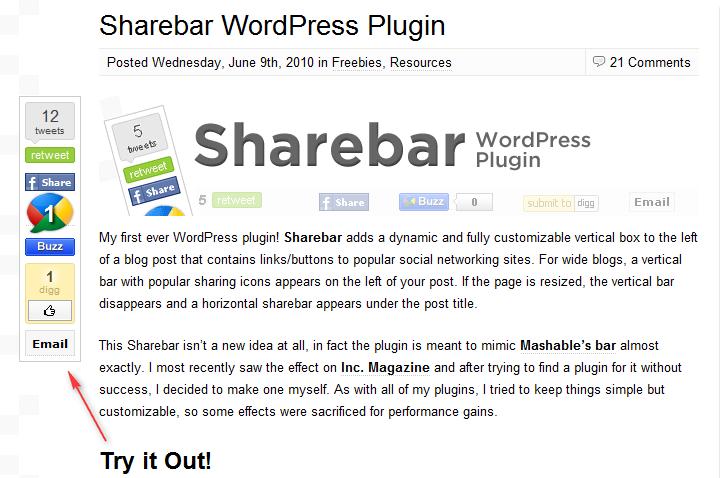 Как добавить ссылки на популярные социальные сети | Sharebar | n-wp.ru