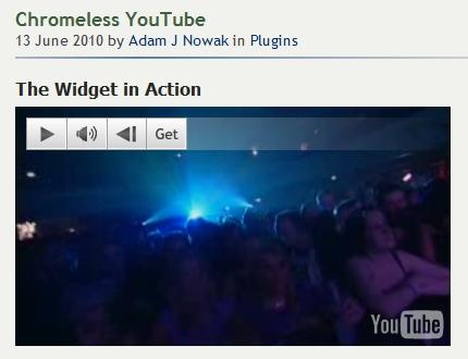 Как добавить видео из YouTube в тему блога | Chromeless YouTube | n-wp.ru