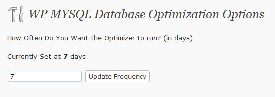 Как автоматически оптимизировать базу данных | WP Database Optimizer | n-wp.ru