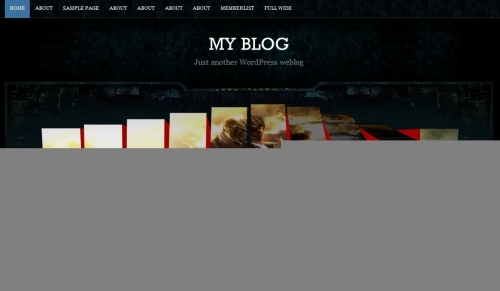 Peacekeeper - стильная темная тема для блога об играх | n-wp.ru