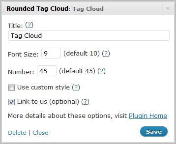 Как сделать красивое облако тегов | Rounded Tag Cloud