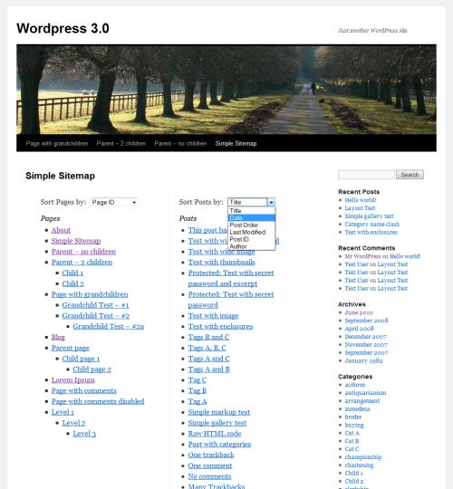 Как сделать на wordpress sitemap