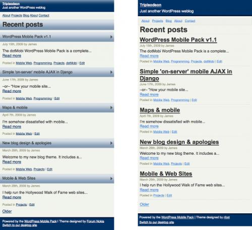 Как сделать блог дружелюбным для мобильных устройств | WordPress Mobile Pack | n-wp.ru
