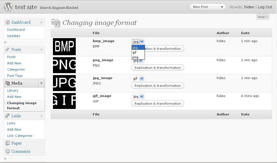 Как конвертировать изображения в блоге из одного формата в другой | Change Image Type | n-wp.ru