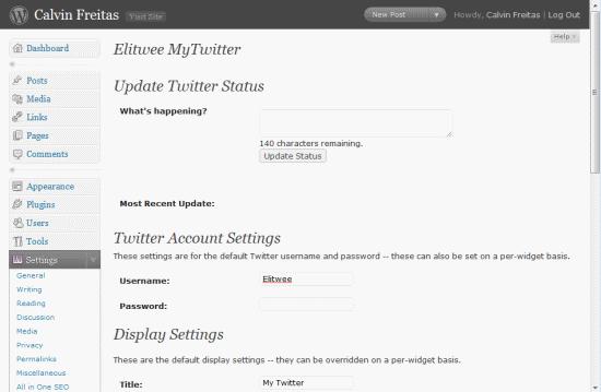 Как вывести сообщения из Твиттера | Elitwee MyTwitter