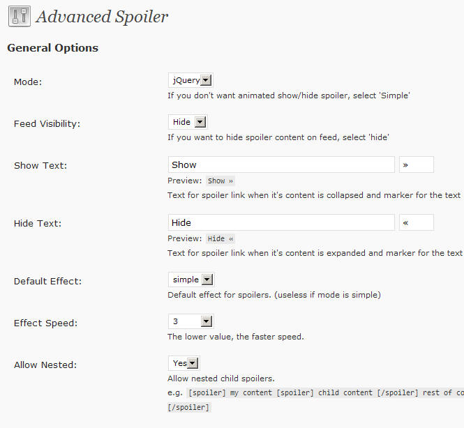 Как сделать удобный спойлер | Advanced Spoiler