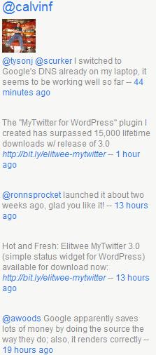 Как вывести сообщения из Твиттера | Elitwee MyTwitter | n-wp.ru