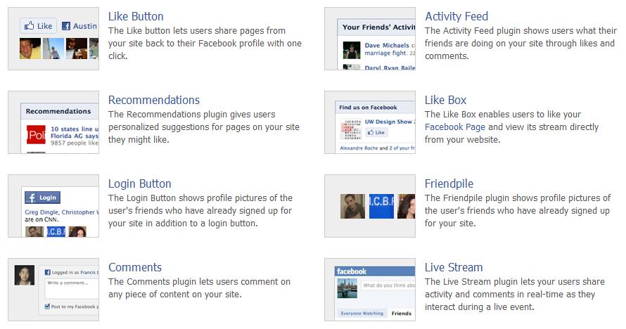 Социальные плагины Facebook   n-wp.ru