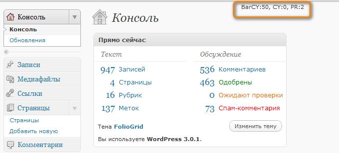 Как отслеживать показатели своего блога | WP DS CY-PR | n-wp.ru