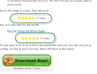 Как читателям оценивать посты   Five Star Rating   n-wp.ru