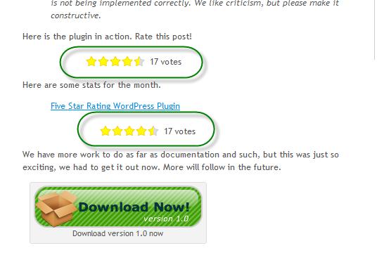 Как читателям оценивать посты | Five Star Rating | n-wp.ru
