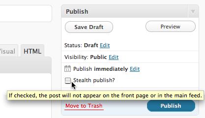 Как незаметно опубликовать пост | Silent Publish и Stealth Publish