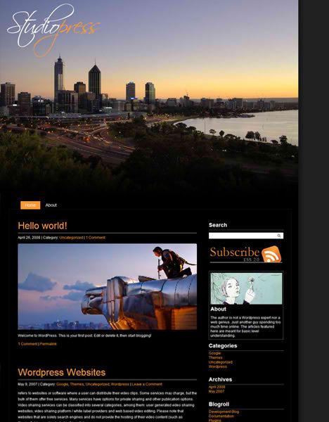 StudioPress Black – Photography WordPress Theme
