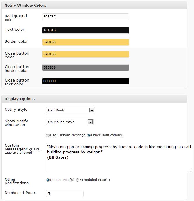 Как вывести всплывающее сообщение при загрузке страницы | WP-Notify