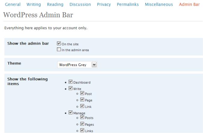 Как управлять блогом, не заходя в админку | WordPress Admin Bar