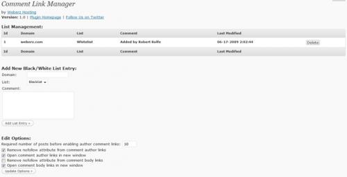 Как скрывать/показывать ссылки в нике комментатора   Comment Link Manager   n-wp.ru
