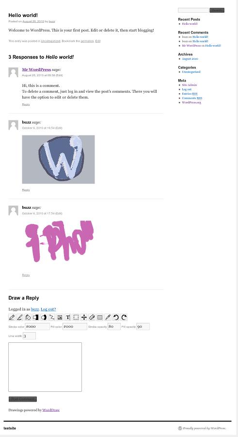 Как позволить комментаторам рисовать от руки | WordDraw | n-wp.ru