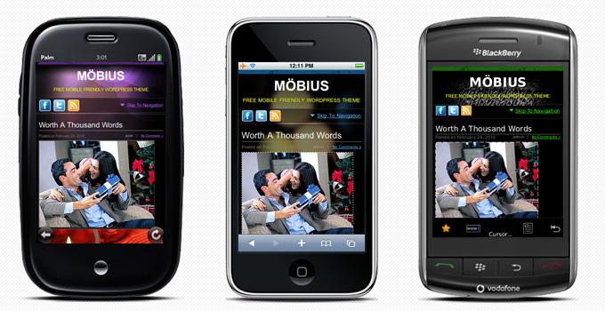 Mobius - отличная темная тема для мобильного блога | n-wp.ru