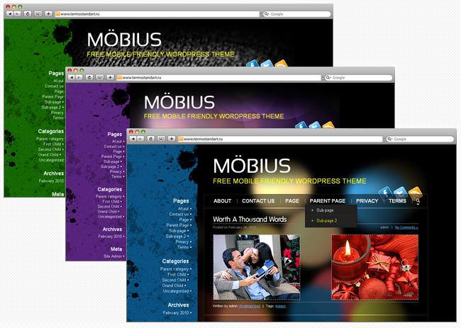 Mobius - отличная темная тема для мобильного блога