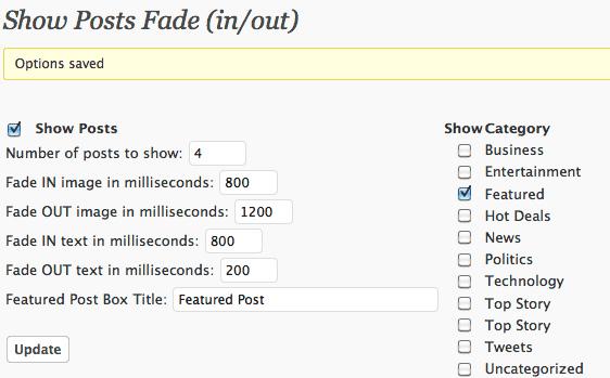 Как сделать плавно исчезающие анонсы постов из определенной категории | Show Category Posts Fade in/out | n-wp.ru