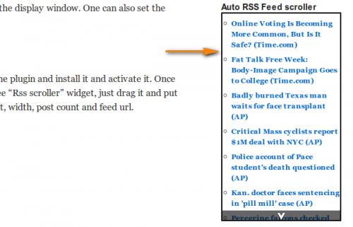 Как вывести в блоге RSS любого сайта | Auto rss feed scroller | n-wp.ru