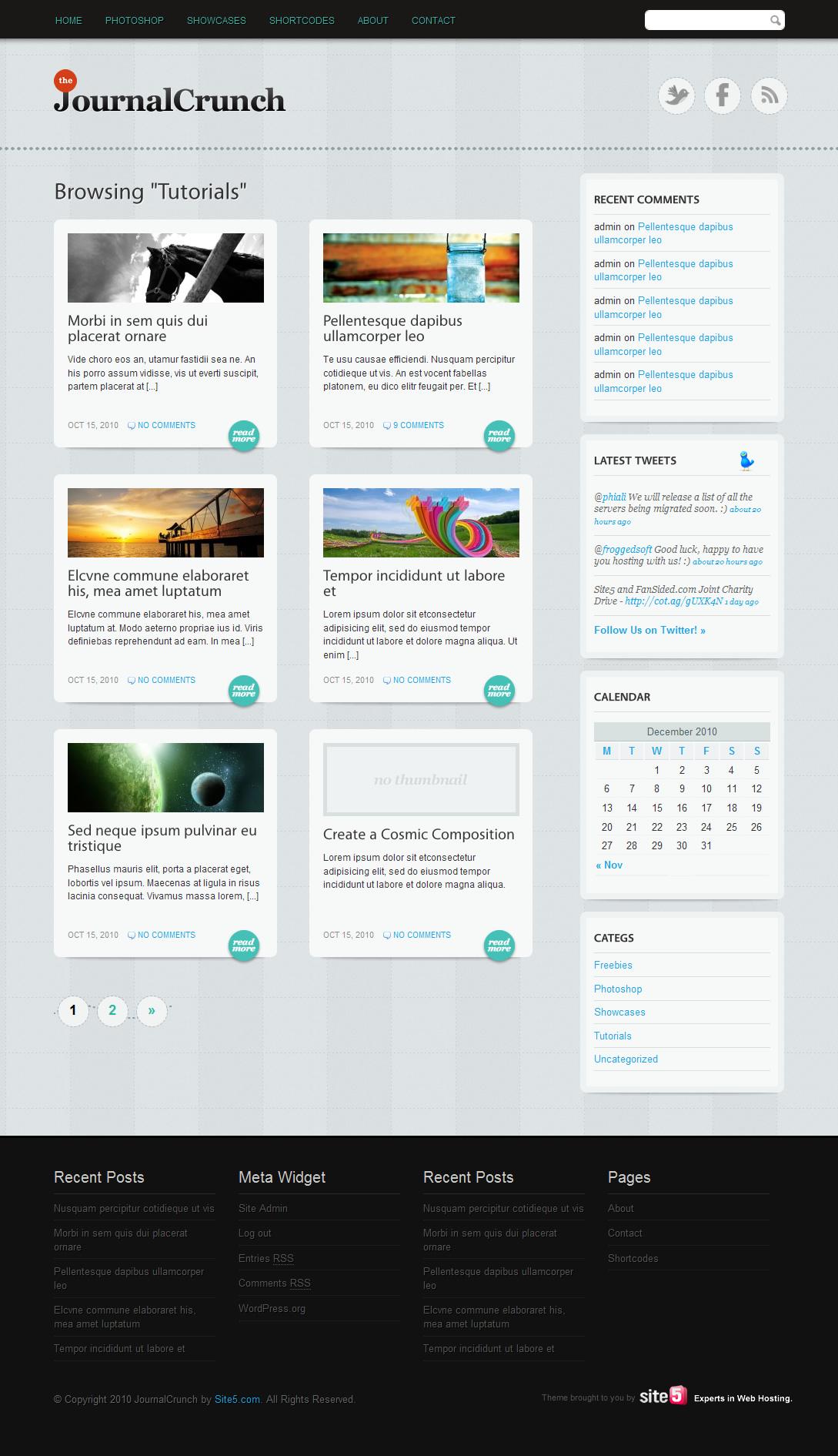 JournalCrunch - мощная тема для современного блога