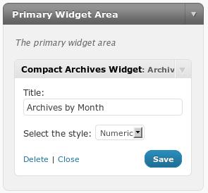 Как вывести компактный архив записей по месяцам | Compact Archives Widget | n-wp.ru
