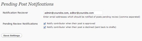 Как информировать редактора о написании авторами новых постов | WP Pending Post Notifier | n-wp.ru