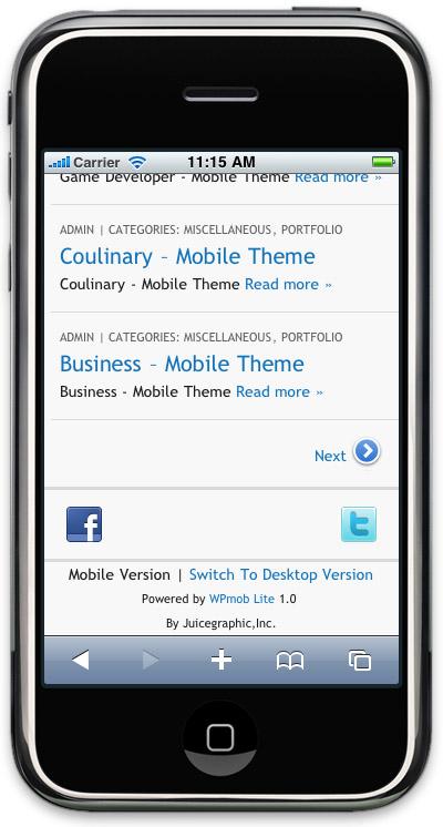WPmob Lite - мобильная версия вашего блога