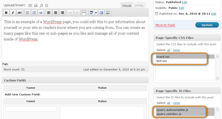 Как подключить индивидуальное оформление или скрипт в определенном посте | Specific Files for Posts and Pages