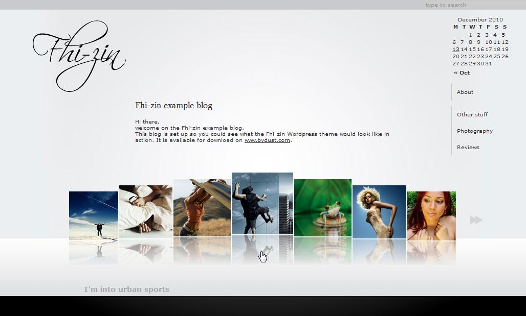 Fhi-zin - светлая минималистичная AJAX тема для портфолио и фотоблога | n-wp.ru