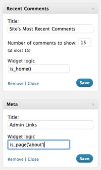 Как отображать виджеты только на определенной странице | Display Widgets и Widget Logic