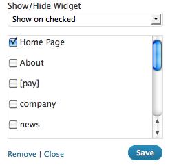 Как отображать виджеты только на определенной странице | Display Widgets и Widget Logic | n-wp.ru