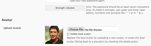 Как пользователям установить собственный аватар   Simple Local Avatars   n-wp.ru