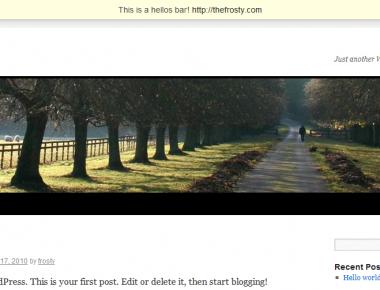 Как добавить интересное приветствие в блог   Hellos Bar   n-wp.ru