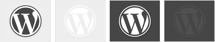 Обои для рабочего стола в стиле WordPress - официальные релизы