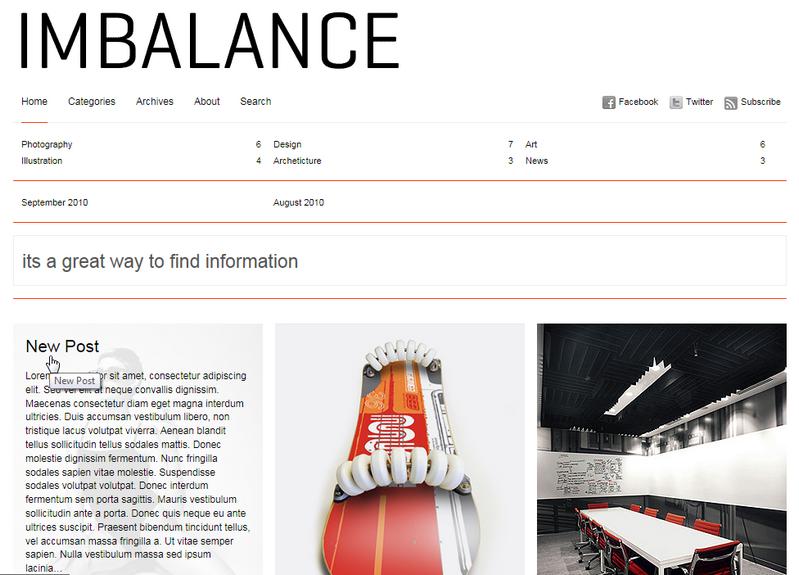 Imbalance - великолепная минималистичная тема для организации фотоблога или портфолио | n-wp.ru