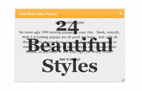 Как сделать красивое всплывающее окно | Cool Ryan Easy Popups | n-wp.ru