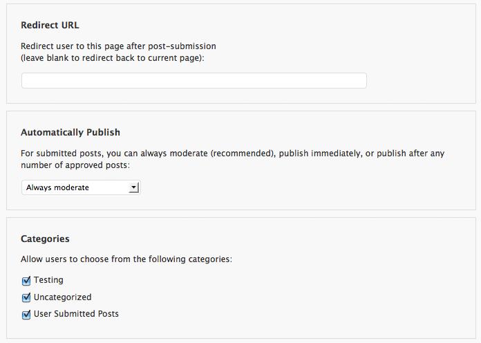 Как пользователям самостоятельно размещать посты   User Submitted Posts