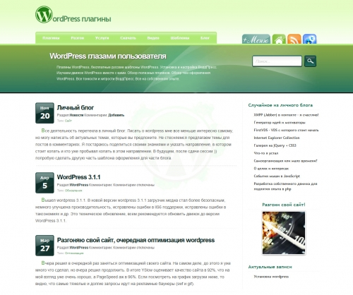WordPress глазами пользователя | n-wp.ru