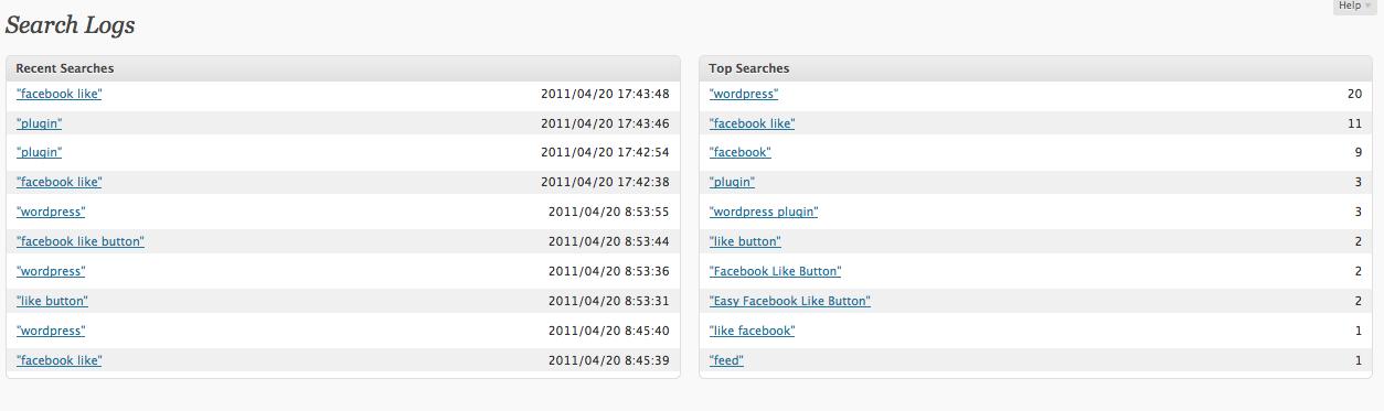 Как узнать, что ищут посетители | Search Log | n-wp.ru