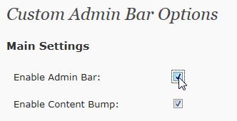 Как настроить админ-панель | Custom Admin Bar
