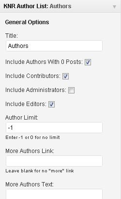 Несколько плагинов для вывода авторов блога