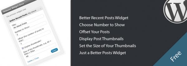 Как вывести названия последних постов с миниатюрами | Better Recent Posts Widget | n-wp.ru