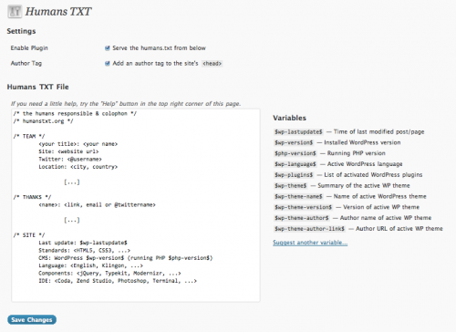 Как добавить humans.txt | Humans TXT | n-wp.ru