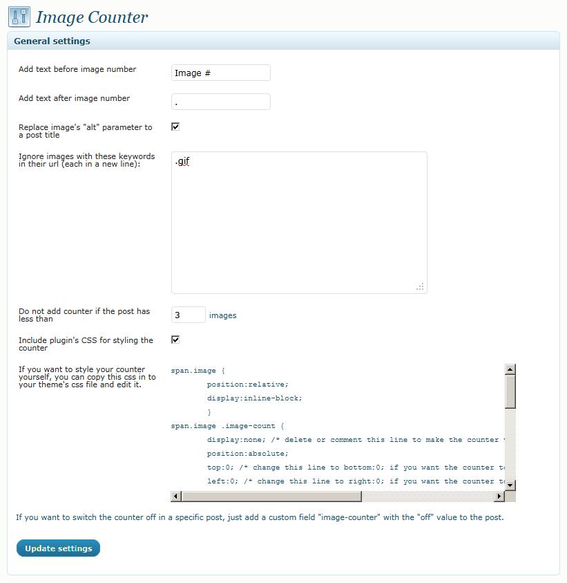 Как добавить счетчик к картинкам | Image Counter
