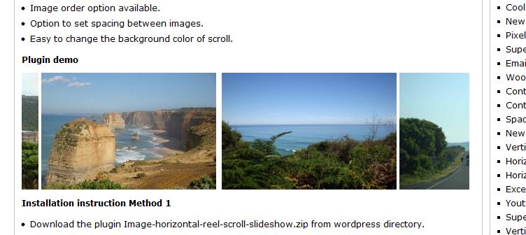Как добавить компактную галерею | Image horizontal reel scroll slideshow | n-wp.ru